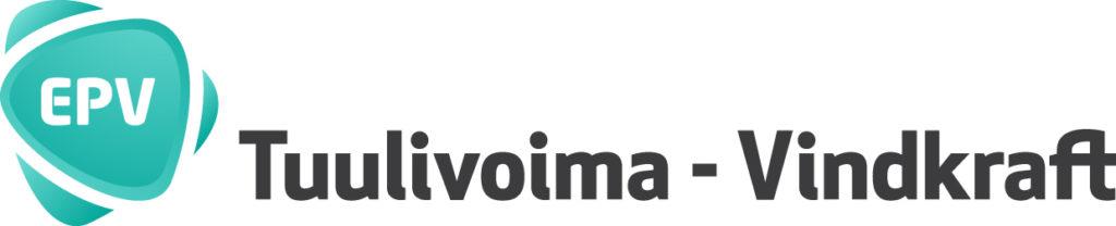 Denna bild har ett alt-attribut som är tomt. Dess filnamn är EPV-Tuulivoima-vindkraft-logo-JPEG-vaaka-1024x208.jpg